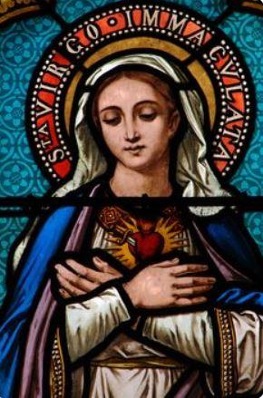 Cœur Immaculé de Marie vitrail