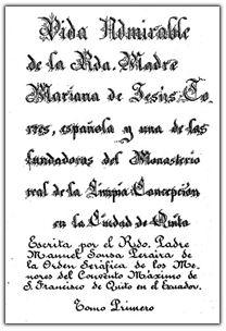 Vie de mère Mariana de Jésus Torrès